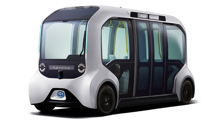 Athletes at the Olympics use a Toyota autonomous bus. Image: Toyota/Disclosure