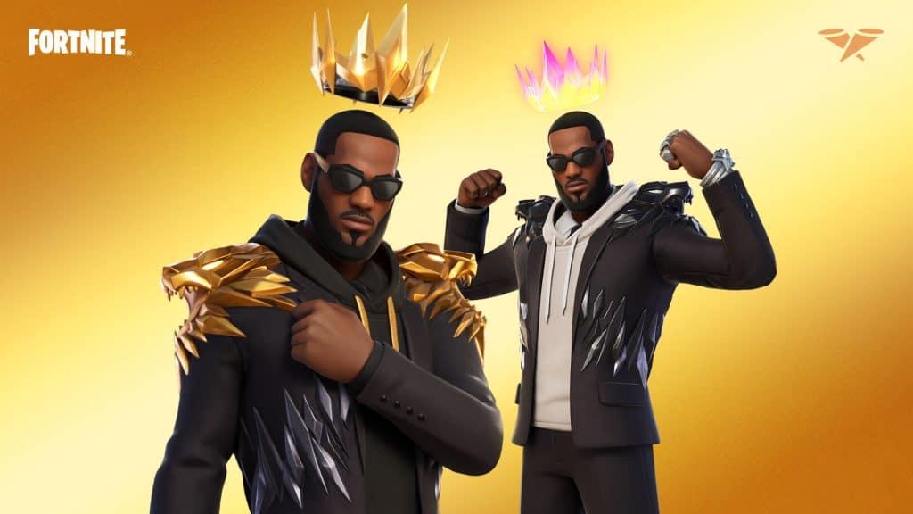 O Traje LeBron James também inclui o Acessório para as Costas do Rei. Imagem: Epic Games/Divulgação