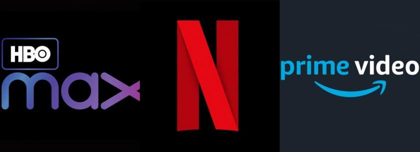 HBO Max e Prime Video reagem nas redes sociais ao aumento de preços da Netflix. Imagem: Montagem/Olhar Digital