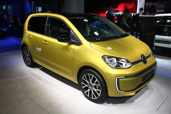 Volkswagen e-up!, modelo 100% elétrico. Imagem: Divulgação