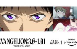 'Evangelion: 3.0+1.0' ganha estreia no Brasil via Prime Video