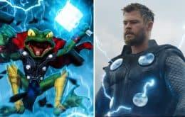 """'Loki': Chris Hemsworth gravou falas para o papel de Throg, o """"Thor Sapo"""""""