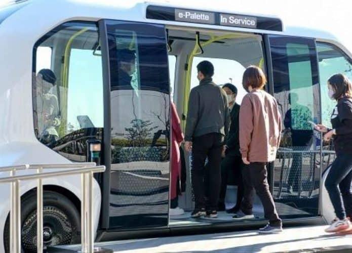 e-Palette es el autobús Toyota que se ejecuta sin conductor en los Juegos Olímpicos. Imagen: Cortesía de Toyota