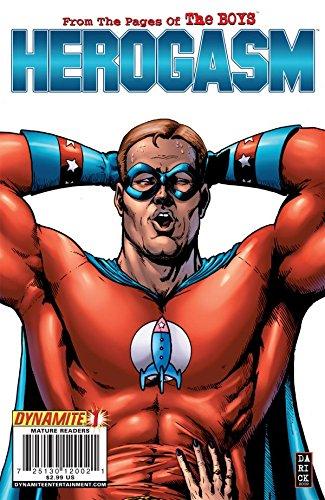 """Una portada de los cómics de 'The Boys' que se refieren al arco de """"Herogasm"""". Imagen: Dinamita / Reproducción"""