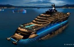 """Maior iate do mundo é """"prédio flutuante"""" para milionários"""