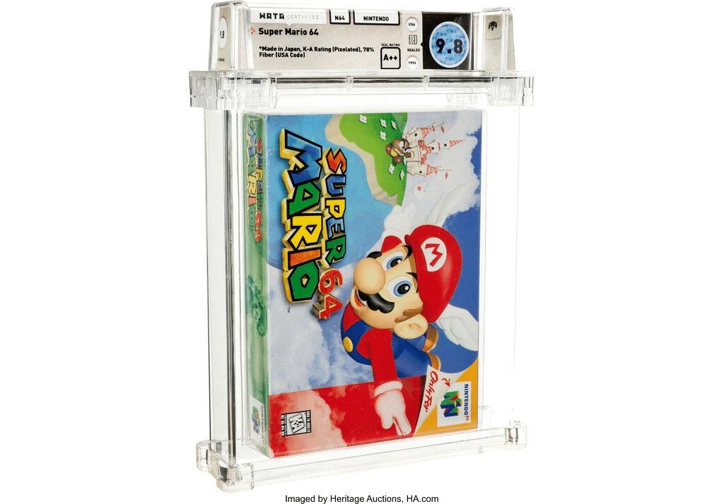 Cópia lacrada de Super Mario 64 é vendida por US$ 1,56 milhão. Imagem: Handout / Heritage Auctions