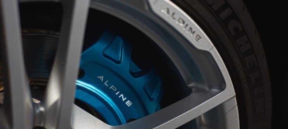 Roda de um carro Alpine