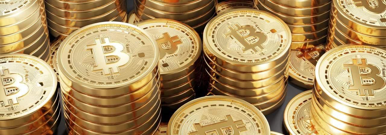 Ilustração de montantes em bitcoin