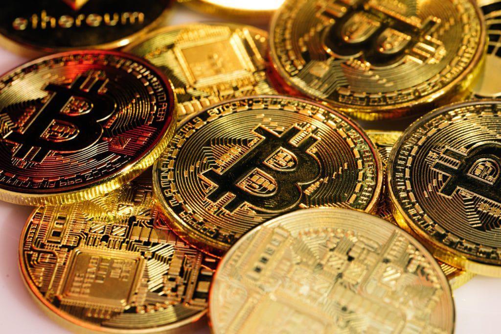 Ilustrações de bitcoins