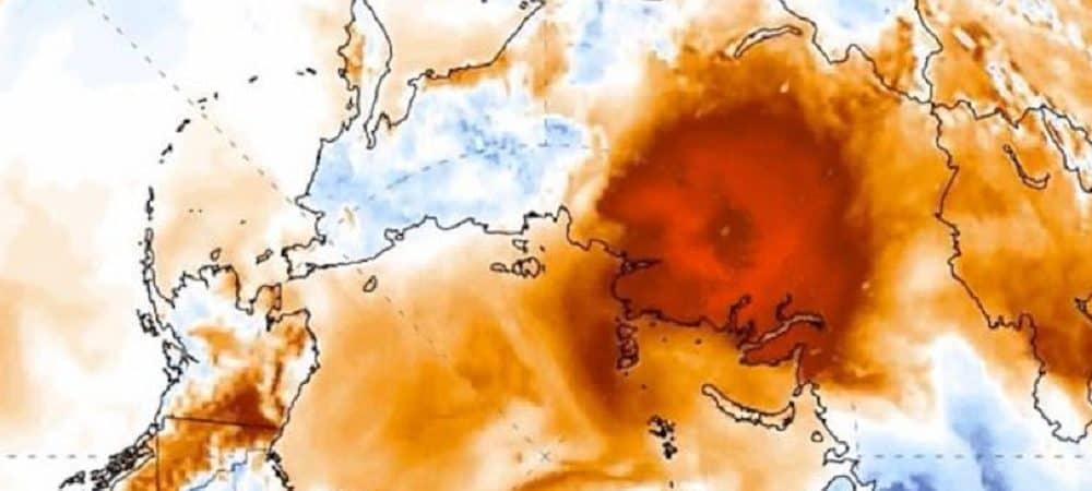 Imagem de satélite da Sibéria