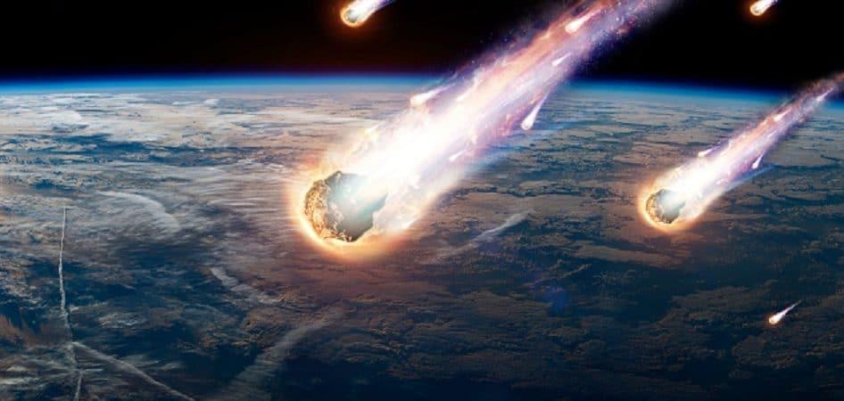 Illustration of a meteor shower
