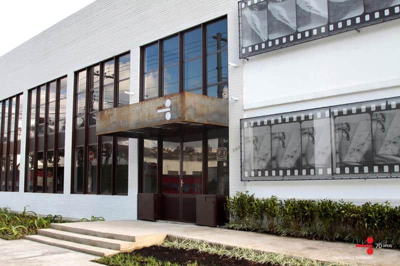 Fachada da unidade da Vila Leopoldina da Cinemateca Brasileira