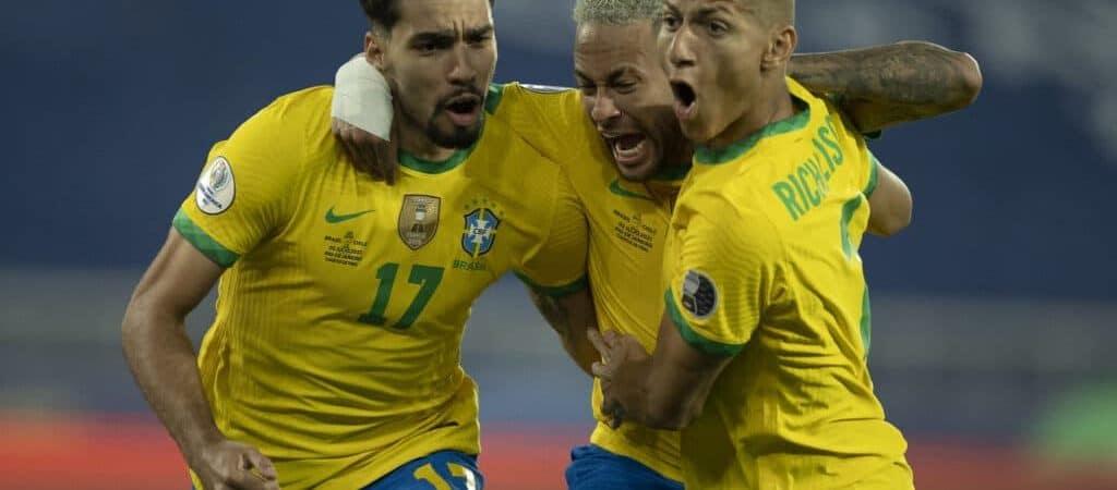 Lucas Paquetá, Neymar e Richarlison