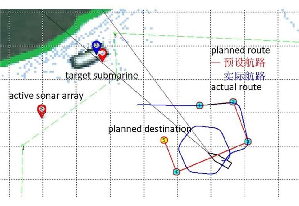 Mapa mostra ação do drone submarino