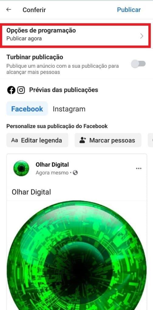 Print do aplicativo do Facebook Business Suite