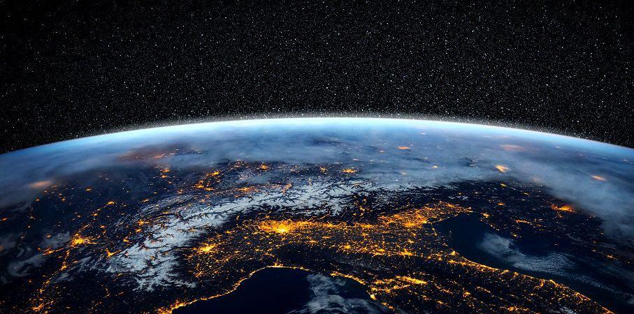 Ilustração do planeta Terra