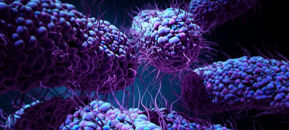 Ilustração de bactéria em 3D