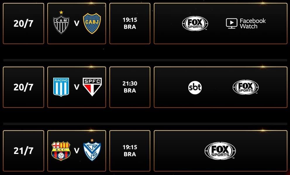 Libertadores round of XNUMX games