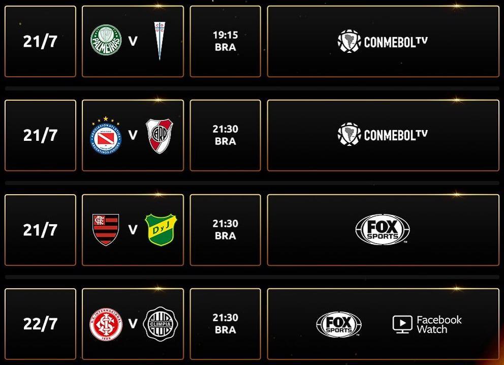 Jogos da volta das oitavas de final da Libertadores