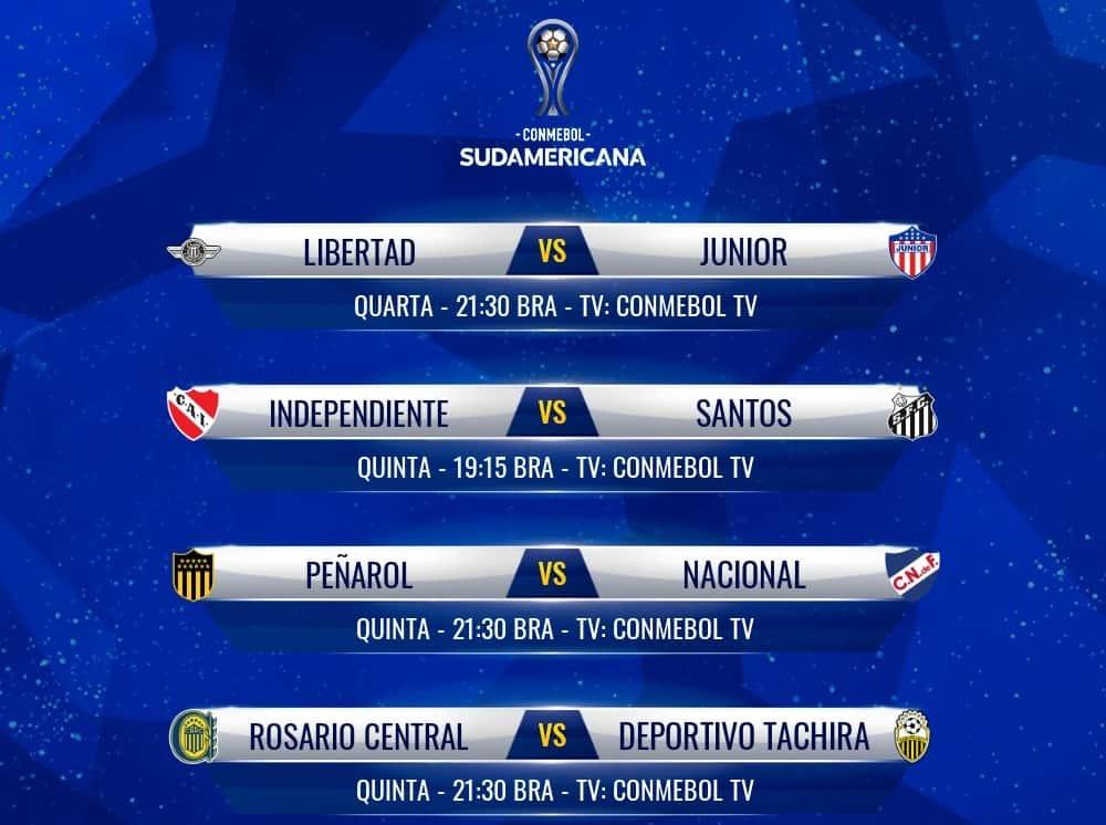 Jogos das oitavas de final da Copa Sul-Americana