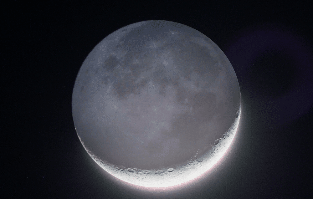 Crescent Moon with Cinereous Light