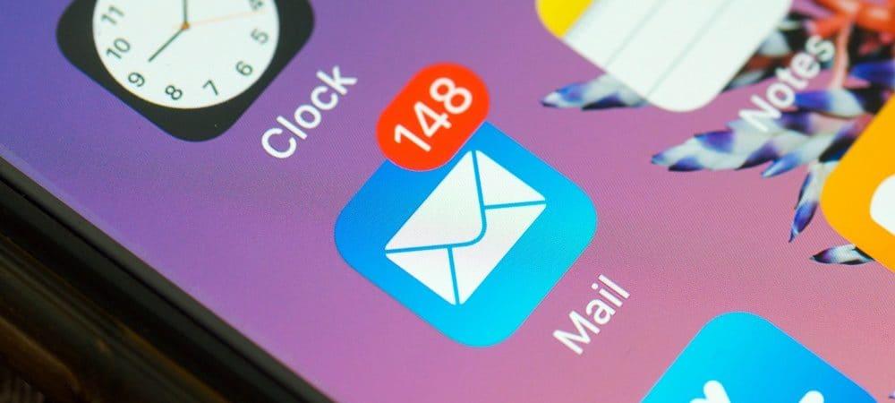 tela do celular com notificações de e-mail