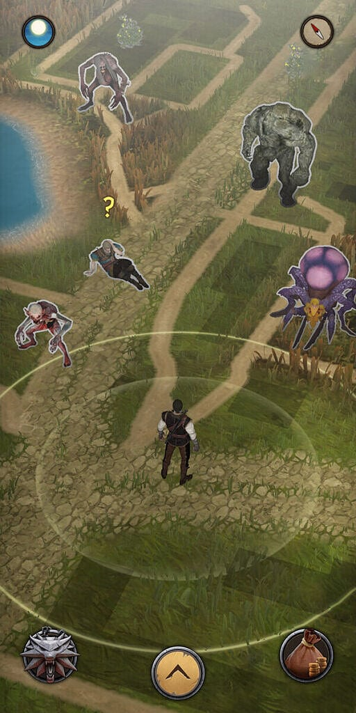 Imagem mostra mapa de The Witcher Monster Slayer