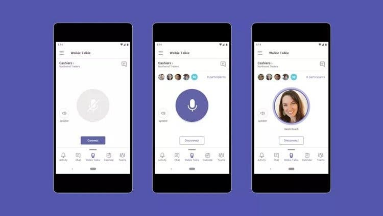 Walkie talkie está de volta: Microsoft Teams terá novo recurso de comunicação por voz. Imagem: Microsoft