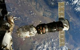 ISS astronaut records Russian module reentry into Earth's atmosphere; see pictures