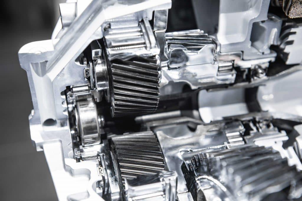 Detalhes de um motor de carros elétricos