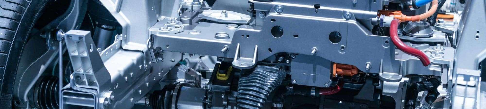 Foto de motor de carros elétricos