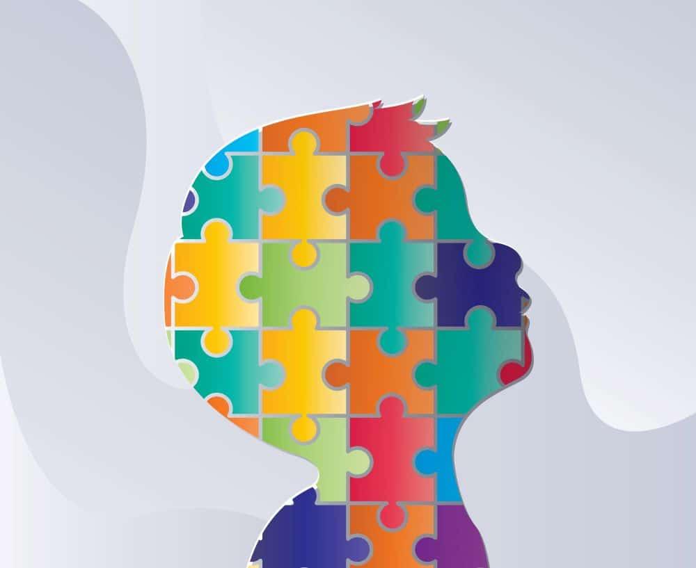 Representação gráfica de criança com autismo