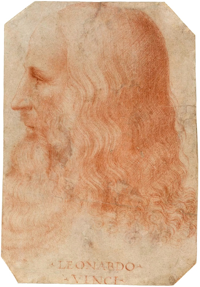 Leonardo Da Vinci portrait attributed to Francesco Melzi
