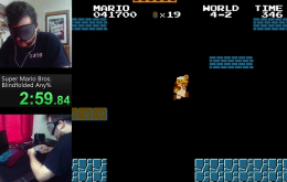 Jogador quebra recorde ao zerar 'Super Mario Bros.' vendado