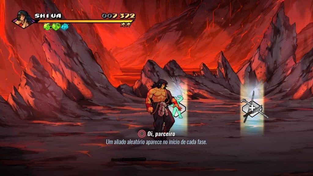 Captura de tela exibe Shiva, novo personagem jogável.