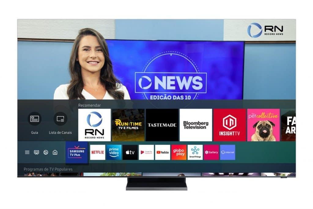 Samsung TV Plus aumenta oferta de conteúdo com mais de 35 canais gratuitos. Imagem: Divulgação/Samsung