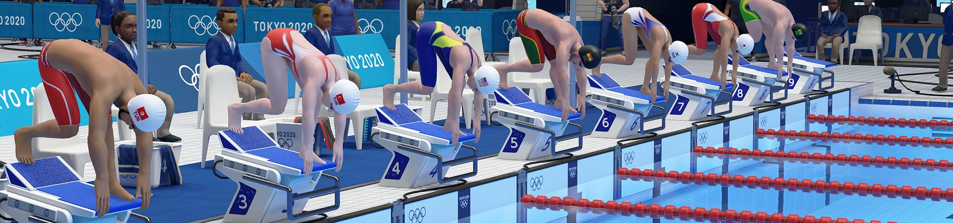 Imagem do videogame oficial das Olimpíadas de Tóquio.