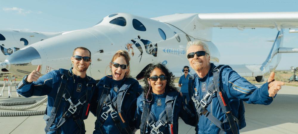 Tripulação da Unity 22, primeiro voo turistico da Virgin Galactic ao espaço