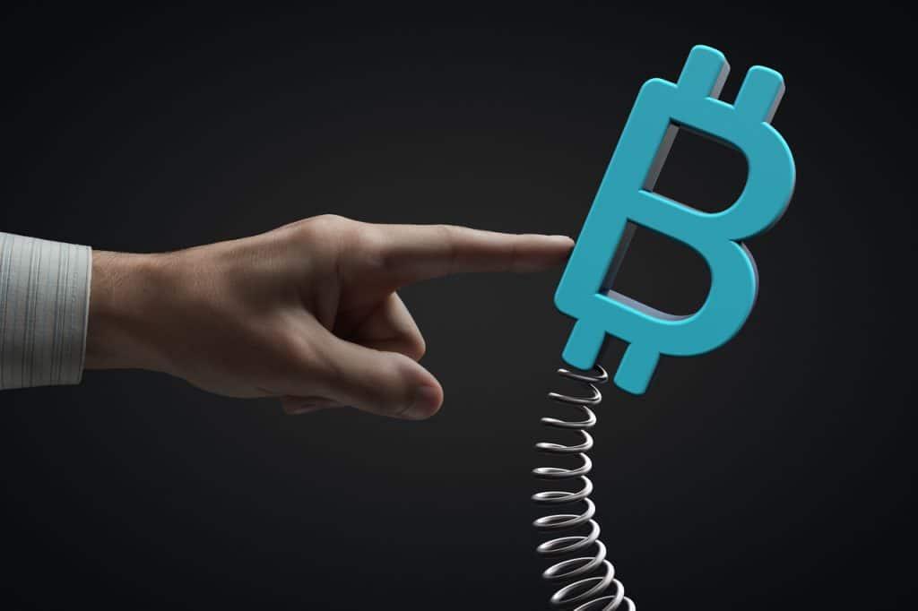 Ilustração de volatilidade do bitcoin