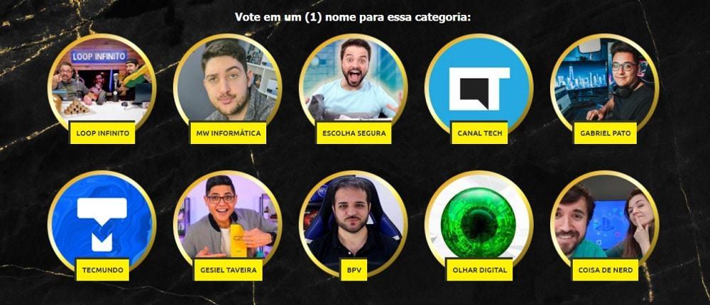 Votación de premios Influency.me