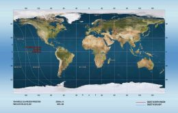Foguete soviético de 48 anos caiu sobre o Pacífico na última sexta (23)
