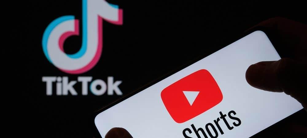 YouTube Shorts versus TikTok