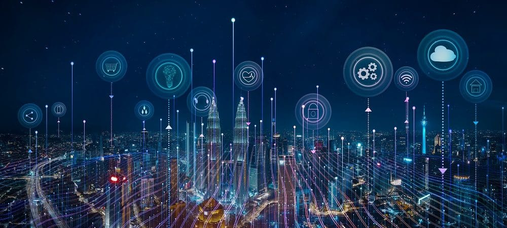 Ilustração de cidades inteligentes