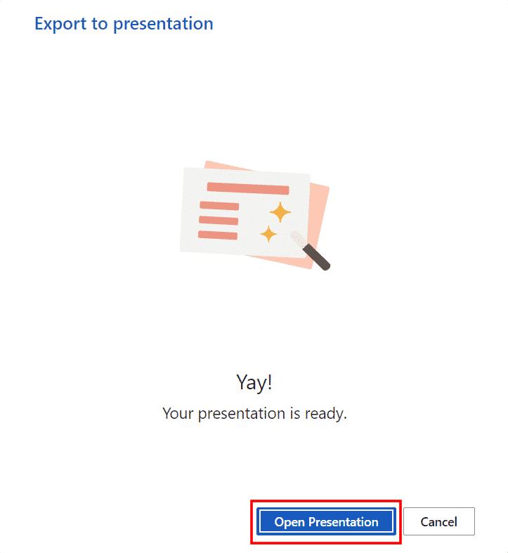 Convertir documentos de Word a PowerPoint, paso 4