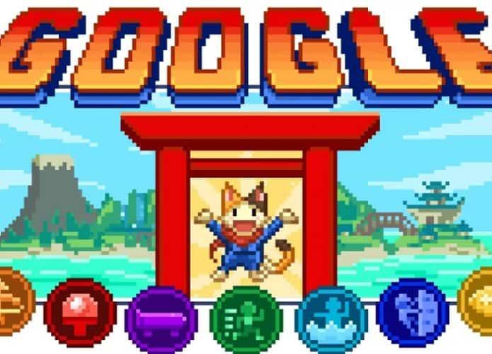 Olímpiadas: Doodle do Google tem um joguinho escondido com várias modalidades esportivas. Imagem: Divulgação