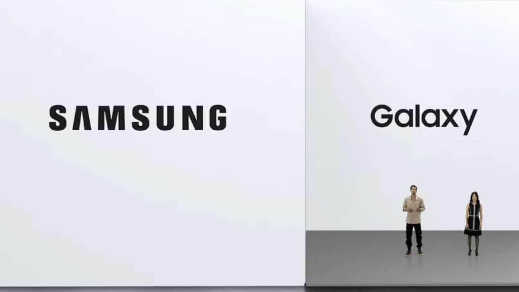 Imagem capturada mostra a logomarca da Samsung, que apresentou três novos produtos da linha Galaxy: um tablet e dois notebooks