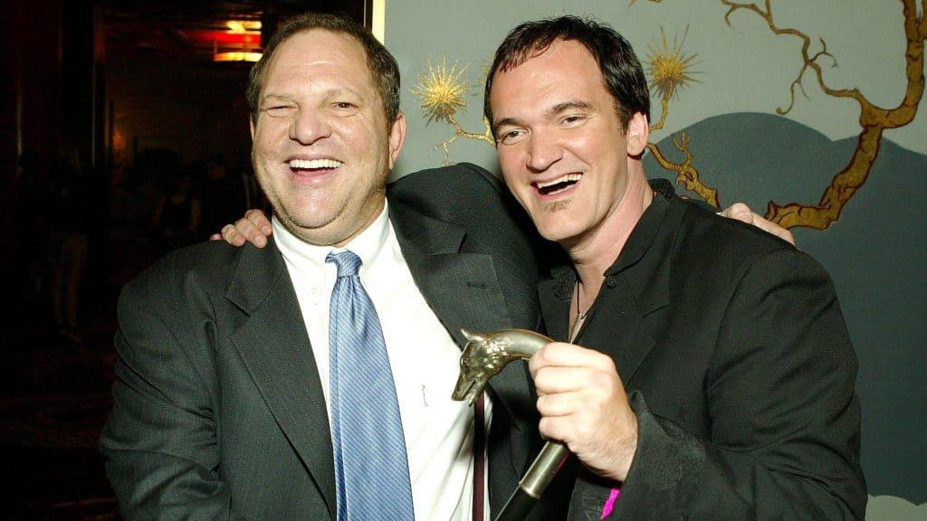 Quentin Tarantino e Harvey Weinstein na premiere de 'Kill Bill Vol. 1', em 2003. Imagem: BEI/REX/Shutterstock