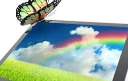 Tela digital tão fina como um 'papel eletrônico' exibe cores brilhantes