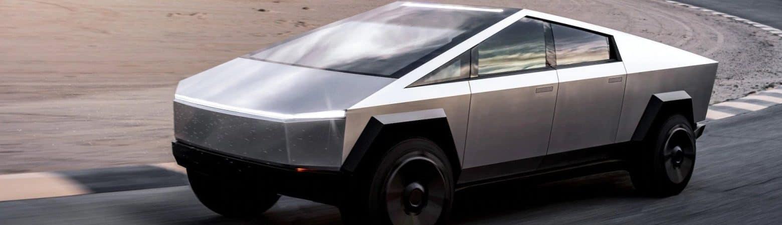 Modo Caranguejo? Cybertruck da Tesla será capaz de girar as quatro rodas, de acordo com Elon Musk. Imagem: Tesla/Divulgação