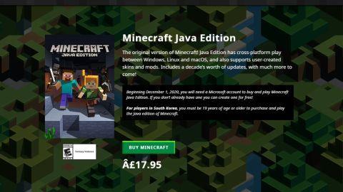 Avisa para jogadores sul-coreanos afirma que 'Minecraft' está classificado como título para adultos. Imagem: Mojang/Reprodução